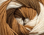 Fiber Content 100% Premium Acrylic, White, Brand Ice Yarns, Brown Shades, fnt2-44919