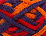 Fiber Content 100% Acrylic, Red, Purple, Orange, Brand ICE, Yarn Thickness 6 SuperBulky  Bulky, Roving, fnt2-45180