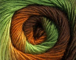 Fiber Content 50% Wool, 50% Acrylic, Brand ICE, Green Shades, Brown Shades, Yarn Thickness 2 Fine  Sport, Baby, fnt2-45316