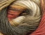 Fiber Content 40% Wool, 30% Mohair, 30% Acrylic, Salmon, Khaki, Brand ICE, Gold, Cream, Yarn Thickness 3 Light  DK, Light, Worsted, fnt2-45801