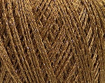 Fiber Content 50% Acrylic, 22% Polyamide, 15% Cotton, 13% Metallic Lurex, Light Brown, Brand Ice Yarns, Gold, Yarn Thickness 1 SuperFine  Sock, Fingering, Baby, fnt2-45971