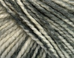 Fiber Content 75% Acrylic, 25% Wool, White, Brand ICE, Grey Shades, Yarn Thickness 5 Bulky  Chunky, Craft, Rug, fnt2-46222