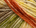 Fiber Content 75% Acrylic, 25% Wool, Yellow, White, Brand Ice Yarns, Green, Copper, Brown, Yarn Thickness 5 Bulky  Chunky, Craft, Rug, fnt2-46231