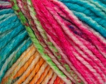 Fiber Content 75% Acrylic, 25% Wool, Yellow, White, Turquoise, Pink, Brand Ice Yarns, Green, Yarn Thickness 5 Bulky  Chunky, Craft, Rug, fnt2-46233