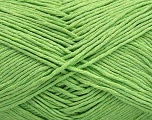 Please note that the yarn weight and the ball length may vary from one color to another for this yarn. Fiber Content 100% Cotton, Light Green, Brand ICE, Yarn Thickness 3 Light  DK, Light, Worsted, fnt2-46496
