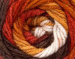 Fiber Content 100% Acrylic, White, Brand ICE, Gold, Copper, Brown, Yarn Thickness 4 Medium  Worsted, Afghan, Aran, fnt2-46965