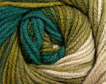 Fiber Content 100% Acrylic, Turquoise, Brand ICE, Green Shades, Beige, Yarn Thickness 4 Medium  Worsted, Afghan, Aran, fnt2-46966