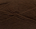Fiber Content 50% Acrylic, 25% Wool, 25% Alpaca, Brand ICE, Dark Brown, Yarn Thickness 5 Bulky  Chunky, Craft, Rug, fnt2-47133