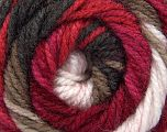Fiber Content 100% Acrylic, White, Pink, Brand ICE, Burgundy, Brown, Beige, Yarn Thickness 4 Medium  Worsted, Afghan, Aran, fnt2-47901