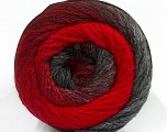 Fiber Content 90% Acrylic, 10% Polyamide, Red, Brand ICE, Grey Shades, Yarn Thickness 4 Medium  Worsted, Afghan, Aran, fnt2-48380