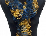 Please be advised that this is not a yarn, but a pre-made item. Fiber Content 100% Acrylic, Navy, Brand ICE, Gold, smp-485