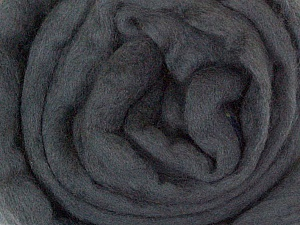 50gr-1.8m (1.76oz-1.97yards) 100% Wool felt Fiber Content 100% Wool, Yarn Thickness Other, Brand ICE, Dark Grey, acs-925