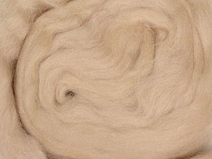 50gr-1.8m (1.76oz-1.97yards) 100% Wool felt Fiber Content 100% Wool, Yarn Thickness Other, Brand ICE, Beige, acs-933