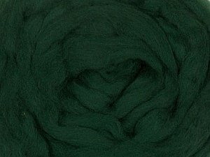 50gr-1.8m (1.76oz-1.97yards) 100% Wool felt Fiber Content 100% Wool, Yarn Thickness Other, Brand ICE, Green, acs-936