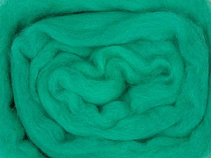 50gr-1.8m (1.76oz-1.97yards) 100% Wool felt Fiber Content 100% Wool, Yarn Thickness Other, Brand ICE, Green, acs-941