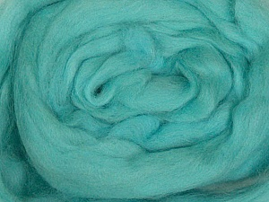 50gr-1.8m (1.76oz-1.97yards) 100% Wool felt Fiber Content 100% Wool, Yarn Thickness Other, Light Turquoise, Brand ICE, acs-943