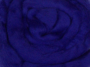 50gr-1.8m (1.76oz-1.97yards) 100% Wool felt Fiber Content 100% Wool, Yarn Thickness Other, Brand ICE, Dark Purple, acs-968