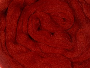 50gr-1.8m (1.76oz-1.97yards) 100% Wool felt Fiberinnehåll 100% Ull, Brand Ice Yarns, Dark Red, acs-1107