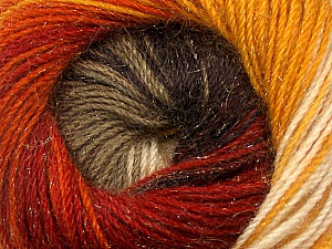 Fiber Content 57% Premium Acrylic, 3% Metallic Lurex, 20% Wool, 20% Mohair, Brand ICE, Gold, Cream, Copper, Camel, Brown, Yarn Thickness 2 Fine  Sport, Baby, fnt2-50316