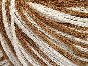 Fiber Content 100% Acrylic, White, Light Brown, Brand ICE, Yarn Thickness 3 Light  DK, Light, Worsted, fnt2-50811