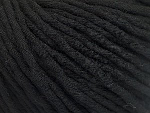 Fiber Content 100% Cotton, Brand ICE, Black, Yarn Thickness 5 Bulky  Chunky, Craft, Rug, fnt2-50889