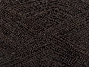 Fiber Content 50% Acrylic, 50% Wool, Brand ICE, Coffee Brown, Yarn Thickness 2 Fine  Sport, Baby, fnt2-50899