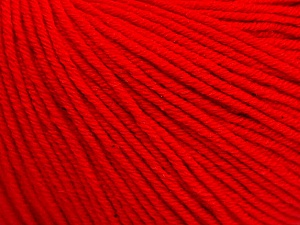 Fiber Content 60% Cotton, 40% Acrylic, Red, Brand ICE, Yarn Thickness 2 Fine  Sport, Baby, fnt2-51211