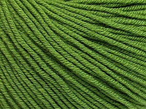 Fiber Content 60% Cotton, 40% Acrylic, Brand ICE, Forest Green, Yarn Thickness 2 Fine  Sport, Baby, fnt2-51223