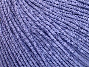 Fiber Content 60% Cotton, 40% Acrylic, Lilac, Brand ICE, Yarn Thickness 2 Fine  Sport, Baby, fnt2-51241