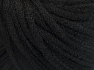 Fiber Content 50% Wool, 50% Acrylic, Brand ICE, Black, Yarn Thickness 4 Medium  Worsted, Afghan, Aran, fnt2-51389