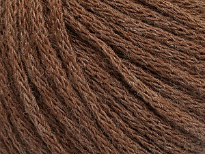 Fiber Content 50% Wool, 50% Acrylic, Brand ICE, Brown Melange, Yarn Thickness 4 Medium  Worsted, Afghan, Aran, fnt2-51393