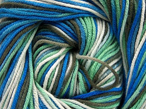 Fiber Content 100% Cotton, White, Mint Green, Khaki, Brand ICE, Blue, Yarn Thickness 2 Fine  Sport, Baby, fnt2-51437