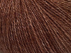 Fiber Content 65% Merino Wool, 35% Silk, Brand ICE, Brown, Yarn Thickness 1 SuperFine  Sock, Fingering, Baby, fnt2-51454