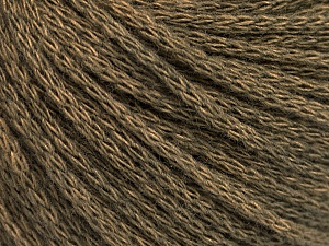 Fiber Content 50% Acrylic, 50% Wool, Khaki Melange, Brand ICE, Yarn Thickness 4 Medium  Worsted, Afghan, Aran, fnt2-51474