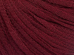Fiber Content 50% Wool, 50% Acrylic, Brand ICE, Burgundy, Yarn Thickness 4 Medium  Worsted, Afghan, Aran, fnt2-51499