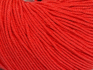 Fiber Content 60% Cotton, 40% Acrylic, Tomato Red, Brand ICE, Yarn Thickness 2 Fine  Sport, Baby, fnt2-51517