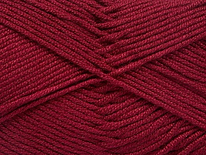 Fiber Content 50% Acrylic, 50% Bamboo, Brand ICE, Burgundy, Yarn Thickness 2 Fine  Sport, Baby, fnt2-51660