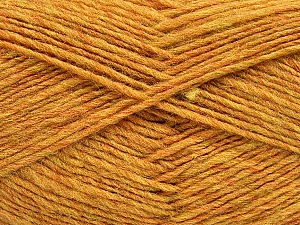 Fiber Content 50% Wool, 50% Acrylic, Yellow Melange, Brand ICE, Yarn Thickness 3 Light  DK, Light, Worsted, fnt2-51854
