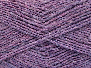 Fiber Content 50% Wool, 50% Acrylic, Lilac Melange, Brand ICE, Yarn Thickness 3 Light  DK, Light, Worsted, fnt2-51855