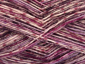 Fiber Content 75% Superwash Wool, 25% Polyamide, Purple, Lilac Shades, Brand ICE, Yarn Thickness 1 SuperFine  Sock, Fingering, Baby, fnt2-51906