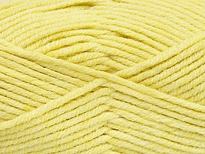 Fiber Content 80% Acrylic, 20% Polyamide, Light Yellow, Brand ICE, Yarn Thickness 5 Bulky  Chunky, Craft, Rug, fnt2-52055