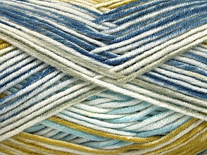Fiber Content 100% Antipilling Acrylic, White, Olive Light Green, Brand ICE, Grey, Blue Shades, Yarn Thickness 4 Medium  Worsted, Afghan, Aran, fnt2-52069