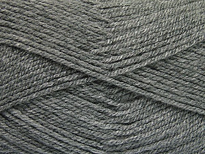 Fiber Content 100% Acrylic, Brand ICE, Grey, Yarn Thickness 3 Light  DK, Light, Worsted, fnt2-52073