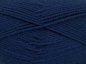 Fiber Content 100% Acrylic, Navy, Brand ICE, Yarn Thickness 3 Light  DK, Light, Worsted, fnt2-52084