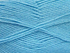 Fiber Content 100% Acrylic, Light Blue, Brand ICE, Yarn Thickness 3 Light  DK, Light, Worsted, fnt2-52087