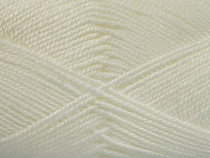 Fiber Content 100% Acrylic, White, Brand Ice Yarns, Yarn Thickness 2 Fine  Sport, Baby, fnt2-52356