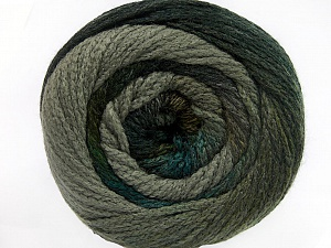 Fiber Content 90% Acrylic, 10% Polyamide, Turquoise, Brand ICE, Grey Shades, Yarn Thickness 4 Medium  Worsted, Afghan, Aran, fnt2-52621