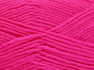 Worsted  Fiber Content 100% Acrylic, Brand ICE, Candy Pink, Yarn Thickness 4 Medium  Worsted, Afghan, Aran, fnt2-52673