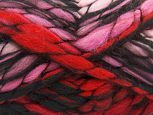 Fiber Content 50% Acrylic, 50% Wool, Red, Pink, Brand ICE, Black, Yarn Thickness 6 SuperBulky  Bulky, Roving, fnt2-52940