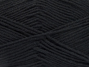 Fiber Content 50% Bamboo, 50% Acrylic, Brand ICE, Black, Yarn Thickness 2 Fine  Sport, Baby, fnt2-53087